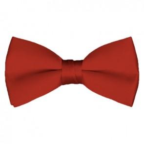Solid Rust Bow Tie Pre-tied Satin Mens Ties