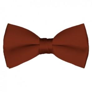 Solid Cinnamon Bow Tie Pre-tied Satin Mens Ties