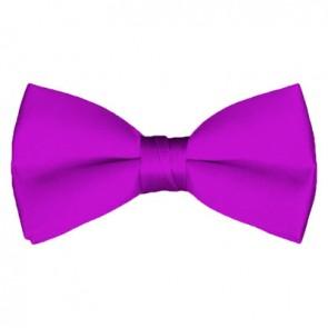 Solid Violet Bow Tie Pre-tied Satin Mens Ties