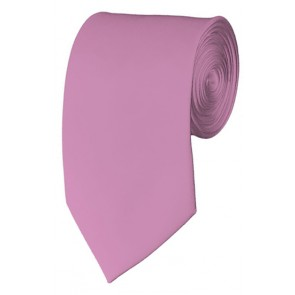 Slim Dusty Pink Necktie 2.75 Inch Ties Mens Solid Color Neckties
