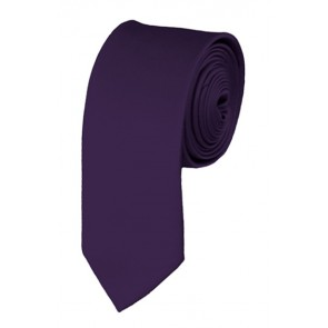 Skinny Eggplant Ties Solid Color 2 Inch Tie Mens Neckties