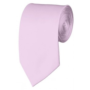 Slim Light Pink Necktie 2.75 Inch Ties Mens Solid Color Neckties