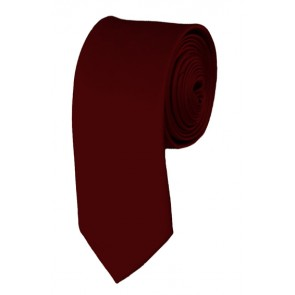 Skinny Maroon Solid Ties Color 2 Inch Tie Mens Neckties