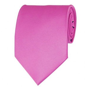 Hot Pink Solid Color Ties Mens Neckties