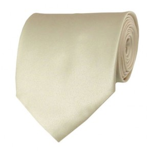Cream Solid Color Ties Mens Neckties