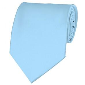 Powder Blue Solid Color Ties Mens Neckties