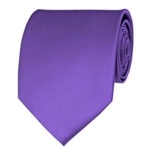 Purple Solid Color Ties Mens Neckties