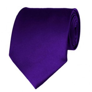 Dark Purple Solid Color Ties Mens Neckties