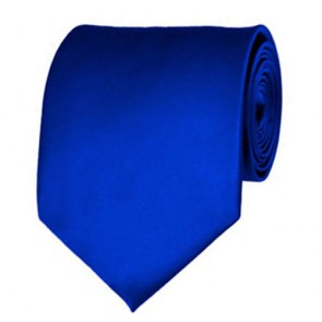 Royal Blue Solid Color Ties Mens Neckties