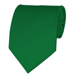 Kelly Green Solid Color Ties Mens Neckties