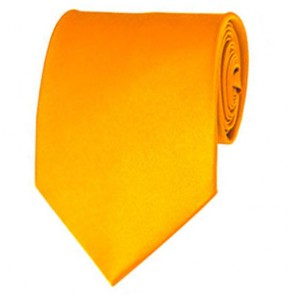 Golden Yellow Solid Color Ties Mens Neckties