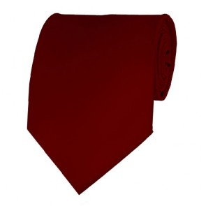 Burgundy Solid Color Ties Mens Neckties