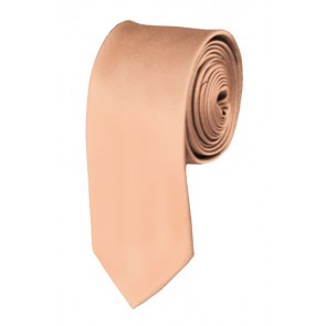 Skinny Light Salmon Ties Solid Color 2 Inch Tie Mens Neckties