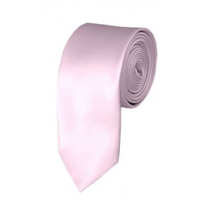 Skinny Light Pink Ties Solid Color 2 Inch Tie Mens Neckties
