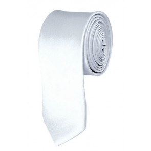 Skinny White Ties Solid Color 2 Inch Tie Mens Neckties