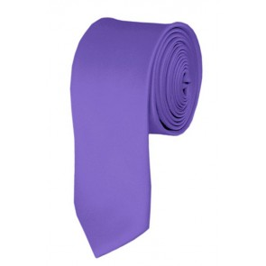 Skinny Purple Solid Color 2 Inch Ties Mens Neckties