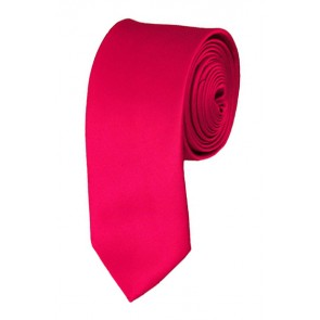 Skinny Fuchsia Ties Solid Color 2 Inch Tie Mens Neckties