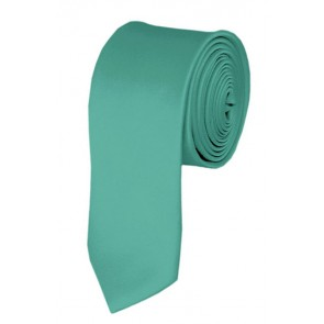 Skinny Mint Green Ties Solid Color 2 Inch Tie Mens Neckties