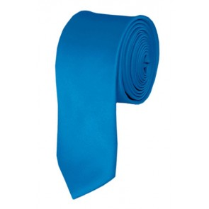 Skinny Peacock Blue Ties Solid Color 2 Inch Tie Mens Neckties
