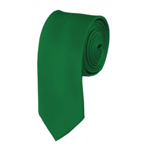 Skinny Kelly Green Ties Solid Color 2 Inch Tie Mens Neckties