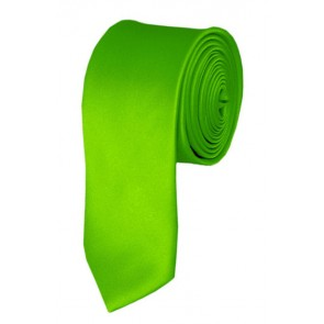 Skinny Lime Green Ties Solid Color 2 Inch Tie Mens Neckties