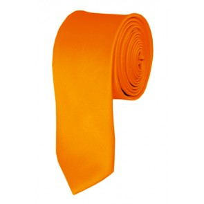 Skinny Orange Ties Solid Color 2 Inch Tie Mens Neckties