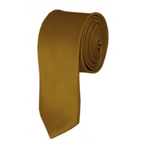 Skinny Copper Ties Solid Color 2 Inch Tie Mens Neckties