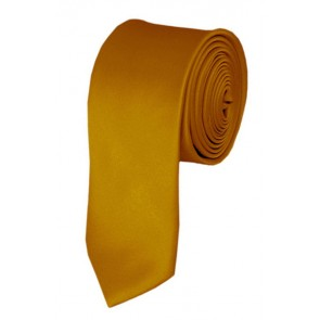 Skinny Gold Bar Ties Solid Color 2 Inch Tie Mens Neckties