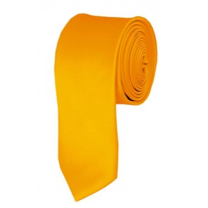 Skinny Golden Yellow Ties Solid Color 2 Inch Tie Mens Neckties