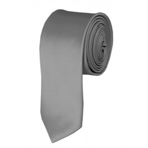 Skinny Silver Ties Solid Color 2 Inch Tie Mens Neckties