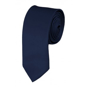 Skinny Navy Blue Ties Solid Color 2 Inch Tie Mens Neckties