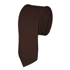 Skinny Brown Ties Solid Color 2 Inch Tie Mens Neckties