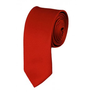 Skinny Rust Ties Solid Color 2 Inch Tie Mens Neckties
