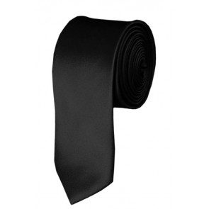 Skinny Black Ties Solid Color 2 Inch Tie Mens Neckties