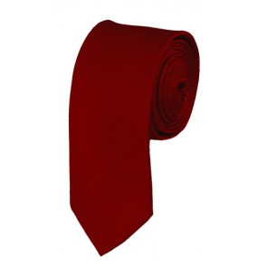 Skinny Burgundy Solid Ties Color 2 Inch Tie Mens Neckties