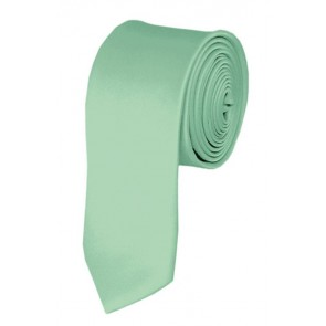 Skinny Light Sage Green Ties Solid Color 2 Inch Tie Mens Neckties