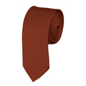 Skinny Cinnamon Solid Ties Color 2 Inch Tie Mens Neckties