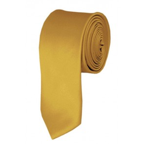Skinny Honey Gold Ties Solid Color 2 Inch Tie Mens Neckties