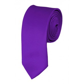 Skinny Plum Violet Ties Solid Color 2 Inch Tie Mens Neckties