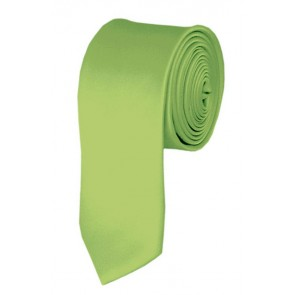 Skinny Pear Green Ties Solid Color 2 Inch Tie Mens Neckties