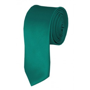 Skinny Teal Green Ties Solid Color 2 Inch Tie Mens Neckties