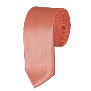 Skinny Palm Coast Coral Ties Solid Color 2 Inch Tie Mens Neckties