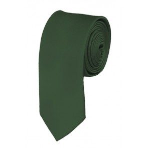 Skinny Dark Olive Ties Solid Color 2 Inch Tie Mens Neckties