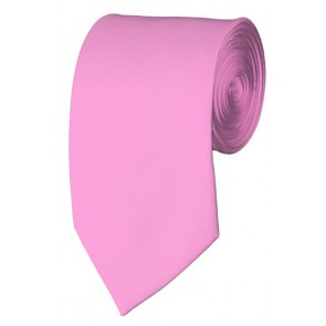 Slim Pink Necktie 2.75 Inch Ties Mens Solid Color Neckties