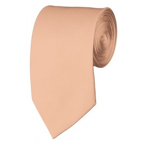 Slim Light Salmon Necktie 2.75 Inch Ties Mens Solid Color Neckties