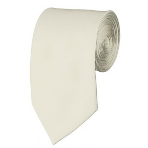 Slim Cream Necktie 2.75 Inch Ties Mens Solid Color Neckties
