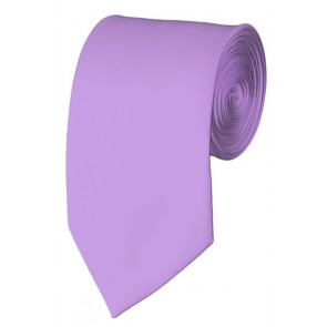 Slim Lavender Necktie 2.75 Inch Ties Mens Solid Color Neckties