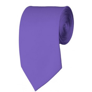Slim Purple Necktie 2.75 Inch Ties Mens Solid Color Neckties