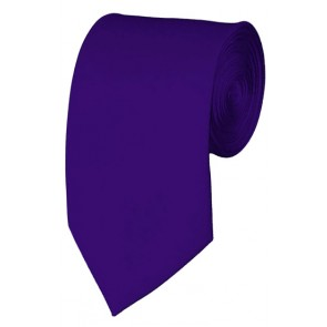 Slim Dark Purple Necktie 2.75 Inch Ties Mens Solid Color Neckties