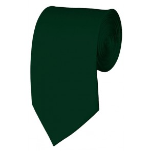 Slim Hunter Green Necktie 2.75 Inch Ties Mens Solid Color Neckties